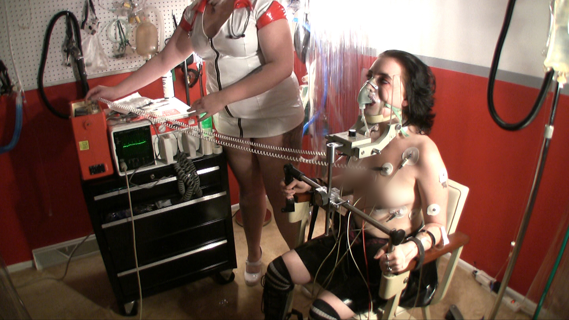 Well understand Girl having sex with a electric chair with you